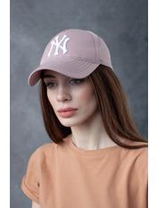 Бейсболка NewYork 57-58 Розовый Пудрово-белый