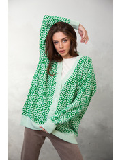 Кардиган KAR-5655 one size Светло-зеленый Зеленый