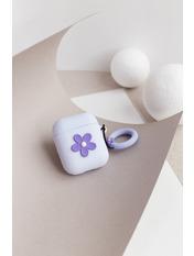 Чехол для наушников Apple Цветок one size Фиолетовый Сиреневый