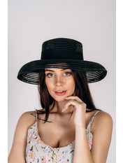 Шляпа слауч Джун Черный Черный 54-58