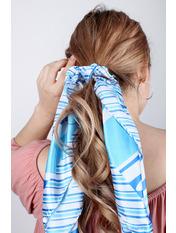Платок атласный PLA-21100 59*59 Голубой Светло-голубой