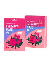 Маски для лица тканевая Dearboo з екстрактом троянди і зеленого чаю 27 мл