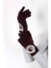 Женские перчатки трикотажные сенсорные Итан Коричневый one size