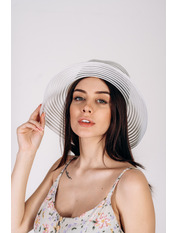 Шляпа слауч Джун Белый Белый 54-58