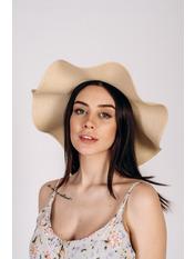 Шляпа широкополая Кассандра Капучино 56 Капучиновый
