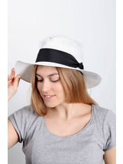 Шляпа федора Адель Белый 54-56