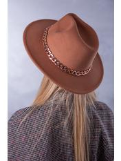 Шляпа фетровая SHL-А1(7) Коричневый Светло-бежевый