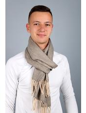 Чоловічий шарф Саймон 180*30 Капучино Капучиновий