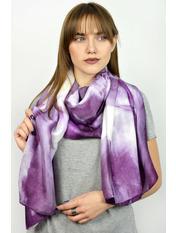 Шелковый палантин Кателина 180*70 Фиолетовый