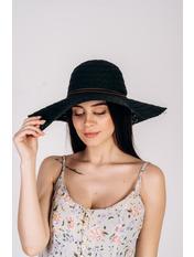 Шляпа широкополая Кими 57-58 Черный Черный