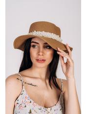 Шляпа канотье Винн Бежевый Песочный 57