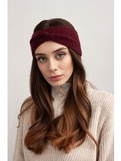 Повязка на голову Амелия one size Бордовый Бордовый