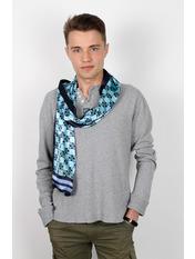 Чоловічий шарф Полукс 166*27 Блакитний Світло-блакитний