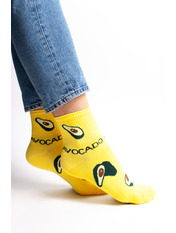 Носочки Нефи Хлопок 36-40 Желтый Лимонный