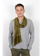 Чоловічий шарф Кастор 160*30 Зелений Хакі