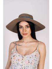 Шляпа широкополая Алиса 55-56 Коричневый Коричневый