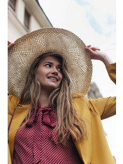 Шляпа широкополая Бетти Бежевый 56-59