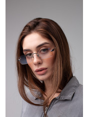 Имиджевые очки S31528 Общая ширина 14(см)/ Высота линзы 4(см)/ Ширина линзы 5,5(см) Капучино Капучиновый