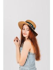 Шляпа канотье Пира Капучино Капучиновый 54-56