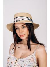 Шляпа федора Сарон Бежевый 57 Бежевый