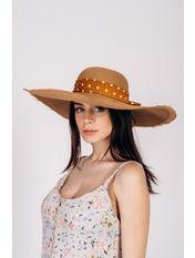 Шляпа широкополая Джанин Бежевый Песочный 56
