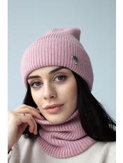 Комплект шапка и баф Гермиона Розовый one size Пудровый