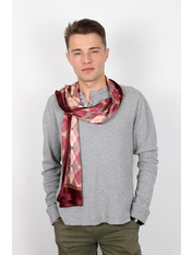Чоловічий шарф Полукс 166*27 Бордовий Марсаловий