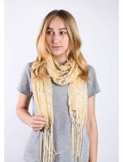 Нарядный шарф c пайетками 160*65 Желтый