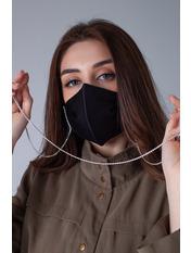 Маска защитная для лица Ингрид  21*13 Черный