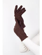 Женские перчатки Амина L Коричневый Коричневый