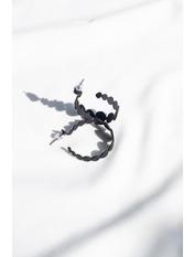 Серьги кольца SER-21024 Черный Черный 1