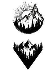 Бодиарт Рассвет в горах