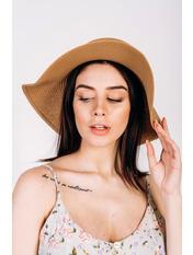 Шляпа широкополая Анджела Бежевый 56 Песочный