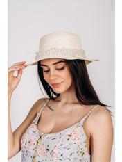 Шляпа канотье Винн Молочный 57 Молочный