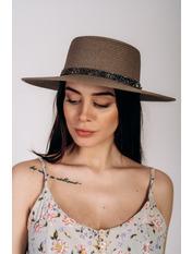 Шляпа канотье Джина Коричневый Коричневый 57