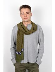 Чоловічий шарф Кастор 160*30 Зелений Світло-зелений