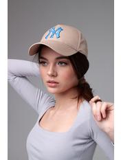 Бейсболка NewYork 57-58 Бежевый Бежево-синий