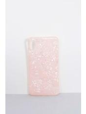 Чехол для iPhone Кристаллы XS Max Розовый Пудровый