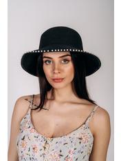 Шляпа слауч Робин Черный 58 Черный