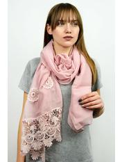 Шарф Есения 180*65 Розовый Пудровый