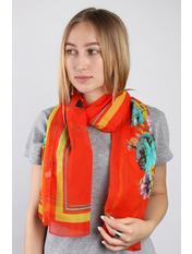 Шарф Глория 160*50 Оранжевый Ярко-оранжевый