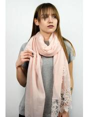 Шарф Есения 180*65 Розовый Нежно-розовый