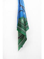 Платок Тесса 55*56 Синий Синий+зеленый
