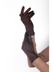 Женские перчатки Тайси Коричневый S Темно-коричневый