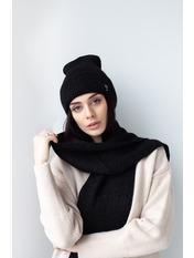 Комплект шапка и шарф KSH-4968 Черный one size