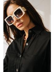 Солнцезащитные очки В6936 Белый Молочный