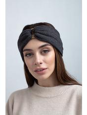 Повязка на голову Алия one size Серый