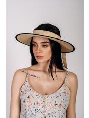 Широкополая шляпа SHL-4676 Коричневый Бежевый