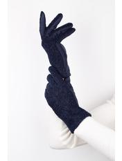 Женские перчатки Амина L Синий Синий