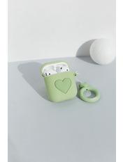 Чехол для наушников Apple Лав one size Зеленый Зеленый